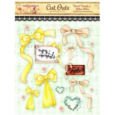 Asuka Studio Memory Place Forest Friends Die Cuts - Yellow Ribbon